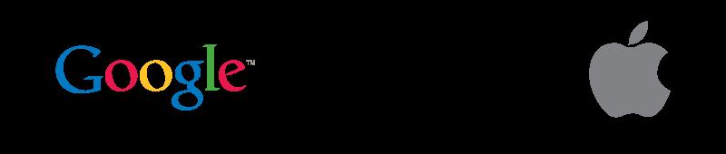לוגו נייק אפל וגוגל