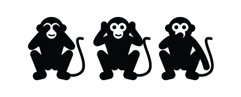 שלושת הקופים עיצוב לוגו ומה שבינהם