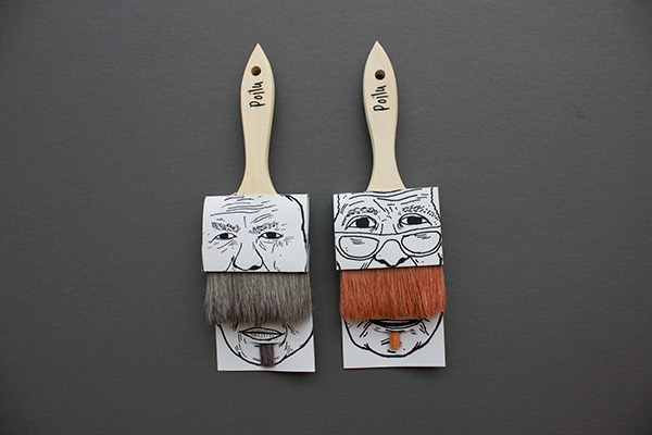 poilus brush packaging | Simon Laliberté | אריזות הומוריסטיות | onscribbling
