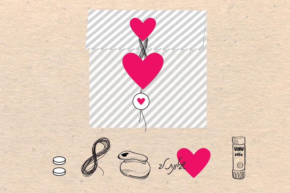 אריזת לבבות קשורים | שרטוט הסבר | onscribbling | הגר אשחר ניר