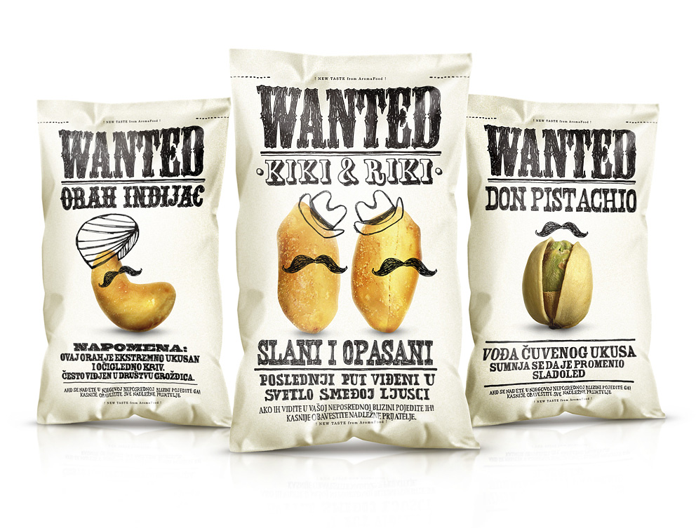 wanted snacks | Peter Gregson | אריזות הומוריסטיות | onscribbling